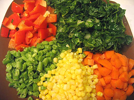 vegetables for khichdi